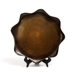 hand beaten copper tray by oliver moss