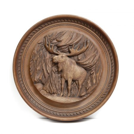 canadian rothammer carved wood moose