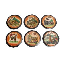 leather drink coasters from peru