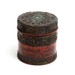 decorative red trinket box